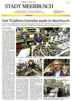 For 70 years gears made in Meerbusch