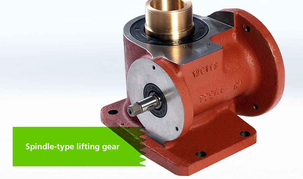 Spindle-type lifting gear